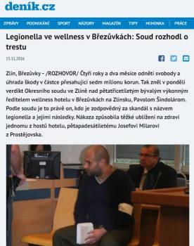 Soudní proces s majitelem hotelu ve kterém se objevila legionella