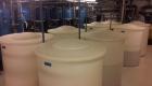 Písková filtrace a nádrže solanky