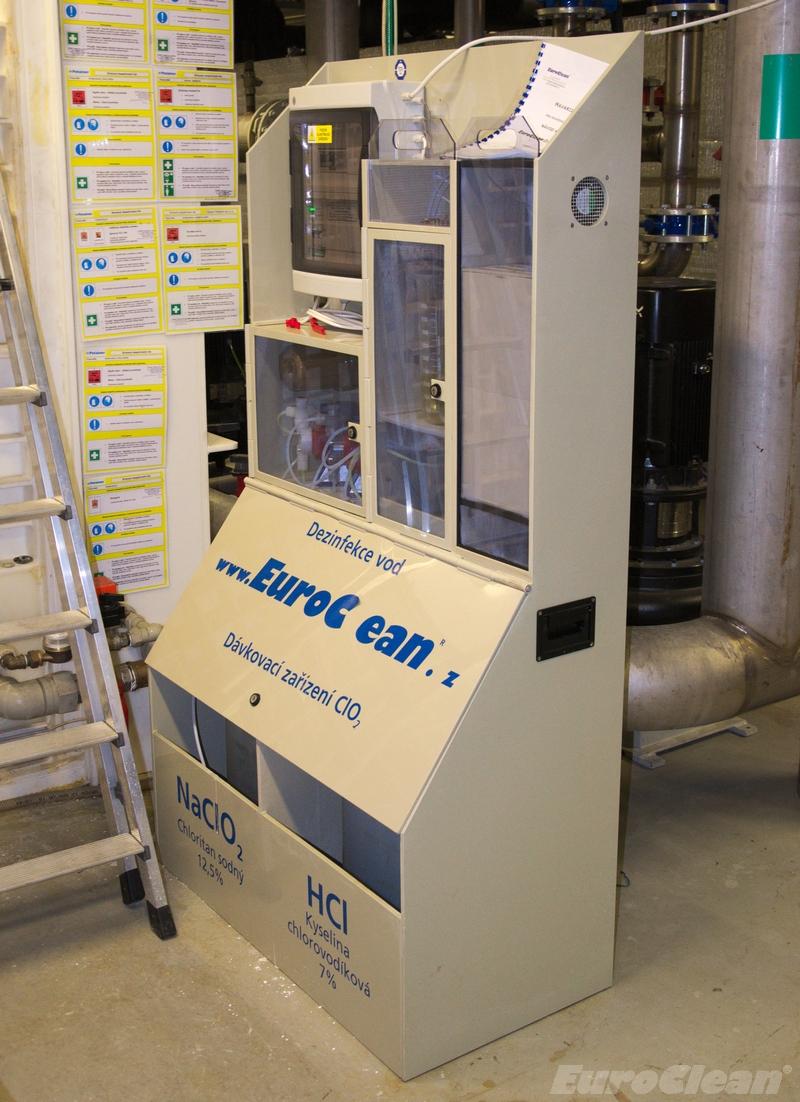 Generátor chlordioxidu pro odstranění legionell z vody