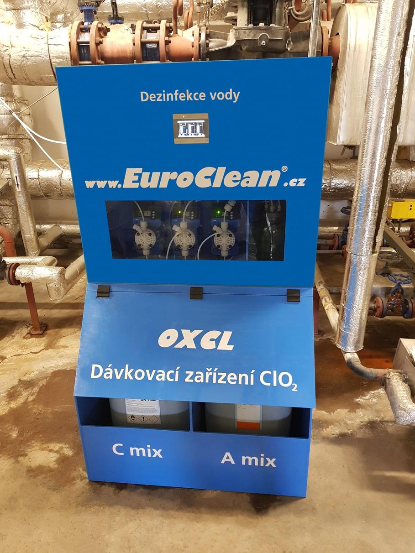 Instalovaný generátor chlordioxidu EuroClean OXCL BLUE