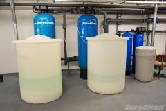 Pískové filtry v objektu banky