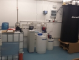 Water treatment set - AquaSoftener softeners and AquaDos water disinfection plant - less operation