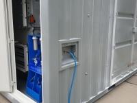 Výtok hotové pitné vody ze zařízení S.A.W.E.R.