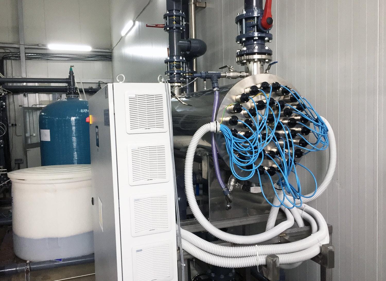 UV sterilizace vody na úpravně odpadní vody