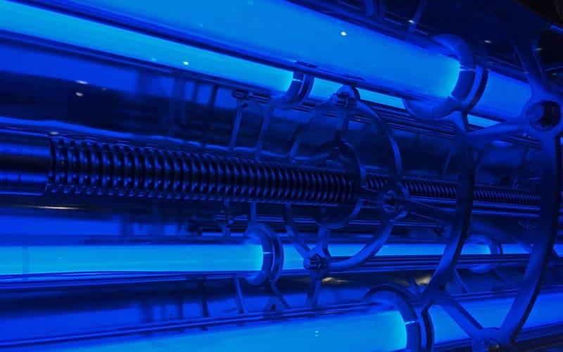 UV lampa používaná na dezinfekci vody